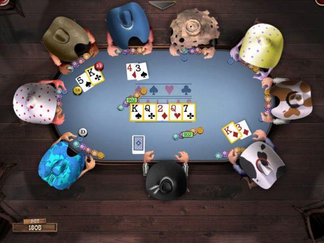 Jeu de poker en ligne